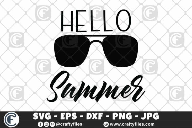 312 Hello summer sun glasses beaching time 3 2D Hello Summer SVG Beach time EPS PNG Beaching time SVG Sun Glasses SVG