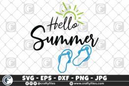 314 Hello summer sun glasses beaching time Flip flop Sun 3 2D Crafty Files | Home