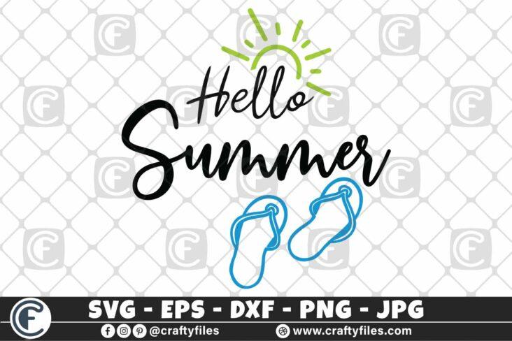 314 Hello summer sun glasses beaching time Flip flop Sun 3 2D Hello Summer SVG Beach time EPS PNG Beaching time SVG Flip-Flop SVG