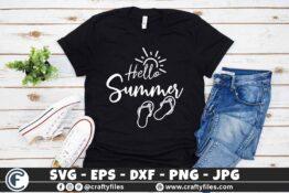 314 Hello summer sun glasses beaching time Flip flop Sun 3 2TW Hello Summer SVG Beach time EPS PNG Beaching time SVG Flip-Flop SVG