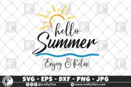 316 Hello summer sun glasses beaching time Enjoy and relax 3 2D Craft Designs