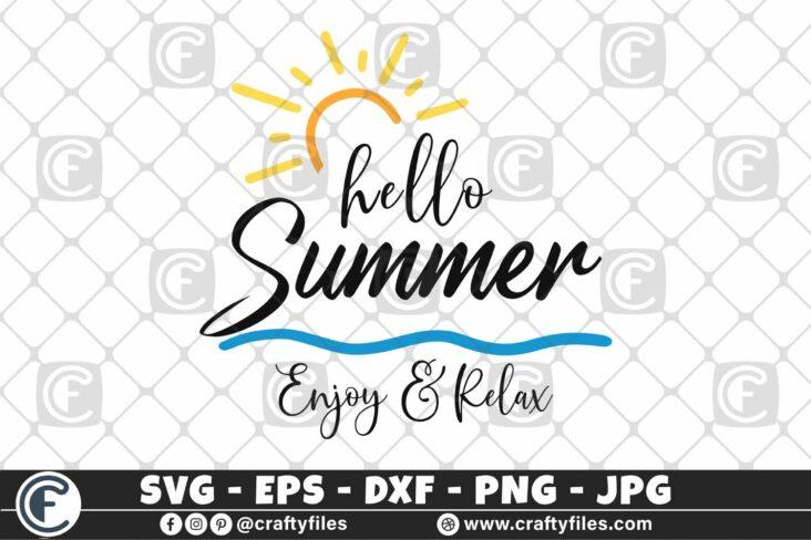 316 Hello summer sun glasses beaching time Enjoy and relax 3 2D Hello Summer SVG Enjoy And Relax SVG EPS PNG Beaching time SVG Beach time EPS