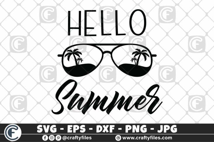 319 Hello summer sun glasses beaching summer sun and fun 3 2D Hello Summer SVG Sun Glasses SVG EPS PNG Beaching time SVG Beach time EPS
