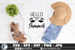 319 Hello summer sun glasses beaching summer sun and fun 3 2T Hello Summer SVG Sun Glasses SVG EPS PNG Beaching time SVG Beach time EPS