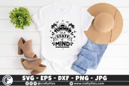 321 Summer is a state of mind hello summer sun set and palms 3 2T Summer SVG is a State of Mind SVG Palms SVG EPS PNG Beaching time SVG Beach time EPS