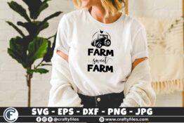 333 Tractor and checken Farm sweet farm 3 2 T N F Farm Sweet Farm SVG DXF Cutting File, Farm Svg Cutting File, Farm Clip Art, Tractor Svg Cut File, Farming Svg for Silhouette and Cricut