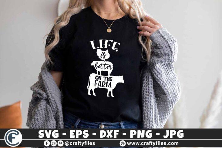 347 Life is better on the farm Turkey sheep Heifer cow farming 3 2 T B F Life Is Better On The Farm SVG, Farmhouse SVG, Farm life svg, Farm svg, Farm animal SVG, Chicken svg, Cow svg